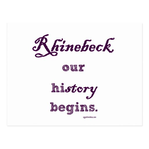 Rhinebeck, mi historia comienza aquí tarjetas postales