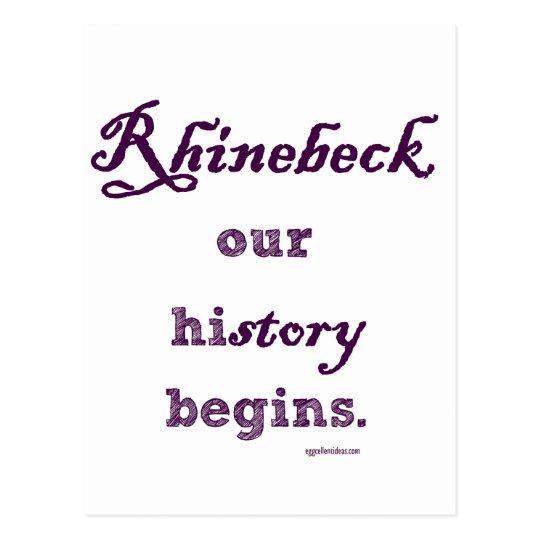Rhinebeck, my history starts here. postcard