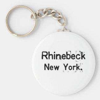 rhinebeck new york dirty basic round button keychain
