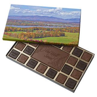 Rhinecliff Bridge in the fall Assorted Chocolates