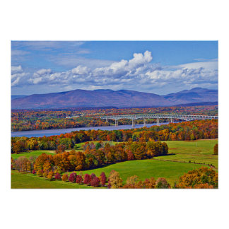 Rhinecliff Bridge in the fall Poster