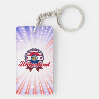 Rhineland, MO Double-Sided Rectangular Acrylic Keychain