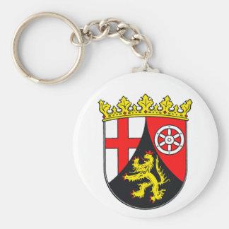 Rhineland-Palatinate coat of arms Basic Round Button Keychain