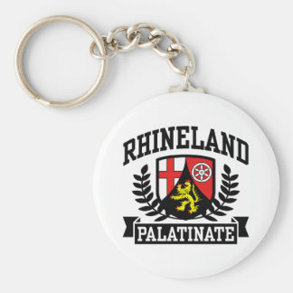 Rhineland Palatinate Basic Round Button Keychain