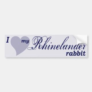 Rhinelander rabbit bumper sticker