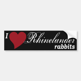 Rhinelander rabbits bumper sticker