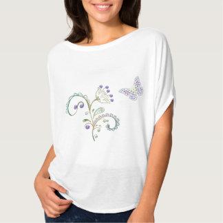 Rhinestone Butterfly Diamond Flower Women's Top