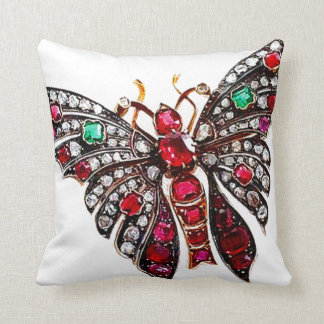 Rhinestone Butterfly Sofa Bling Costume Jewelry Throw Pillow