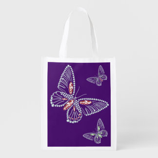 Rhinestone Butterfly Tote Bag