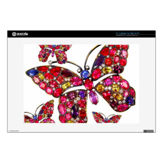 Rhinestone Butterfly Vintage Costume Jewelry Laptop Skins