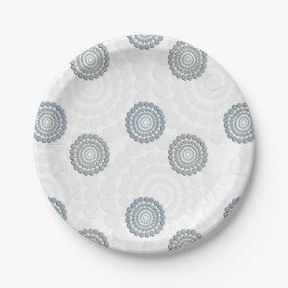 Rhinestone Circle Paper Plates