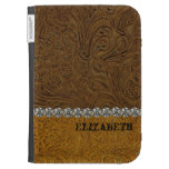 Rhinestone Cowboy Leather Look Personalized Kindle Cover