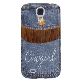 """Rhinestone Cowgirl & Jeans"" Western  IPhone 3 Samsung S4 Case"