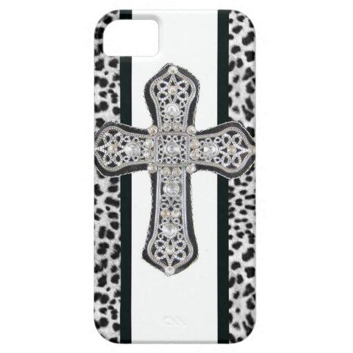 Rhinestone crusted Cross Iphone Case iPhone 5 Case