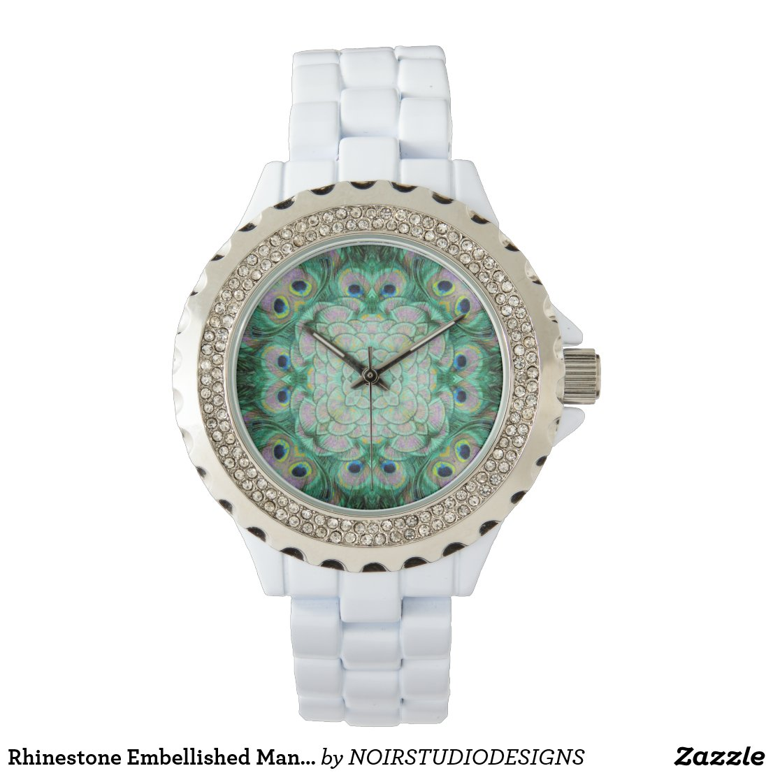Rhinestone Embellished Mandala Watch