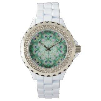 Rhinestone Embellished Mandala Watch