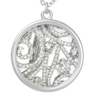 Rhinestone glitter necklace