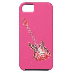 Rhinestone Guitar Art iPhone 5 Case