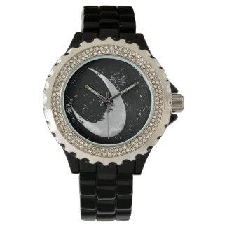 Rhinestone, Moon Wrist Watch