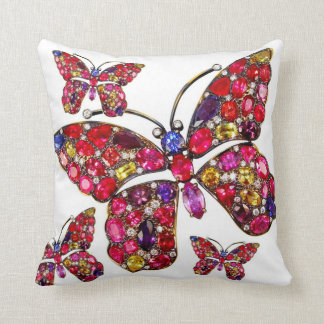 Rhinestone Rainbow Butterfly Sofa Bling Jewelry Pillows