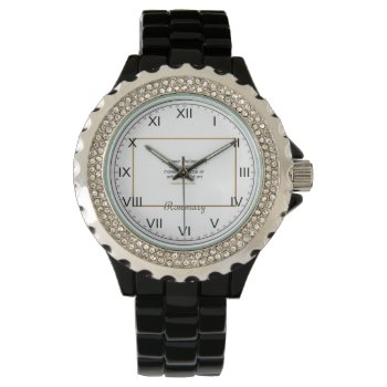 Rhinestone -  Roman Numerals Watch by Casefashion at Zazzle