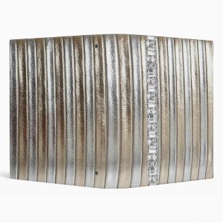 Rhinestone Silver Gold Faux Leather Notebook Album Binder