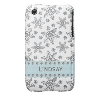 Rhinestone Snowflake iPhone 3g 3gs Case Cover