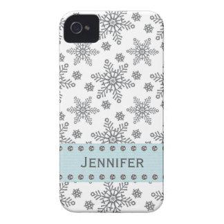 Rhinestone Snowflake iPhone 4 4s Case Mate Cover Case-Mate iPhone 4 Case