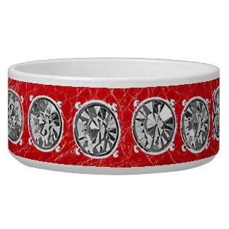 rhinestone Studded Collar in red Bowl