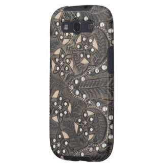 Rhinestone Studded tooled Leather Samsung Galaxy S3 Cases