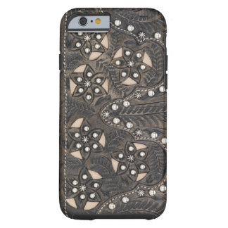 Rhinestone Studded tooled Leather Tough iPhone 6 Case