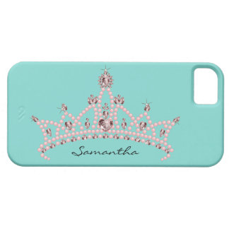 Rhinestone Tiara iPhone 5 Case-Mate Case (aqua)