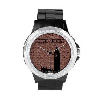 Rhinestone with Black Enamel watch big ben