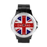 Rhinestone wrist watch | British Union Jack flag