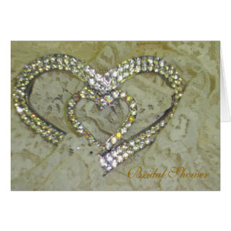 Rhinestones and Lace Stationery Note Card