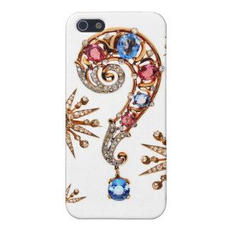 Rhinestones Question Mark Costume Jewelry Diamonds iPhone SE/5/5s Case
