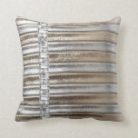 Rhinestones Silver & Gold Faux Leather Pillow Set