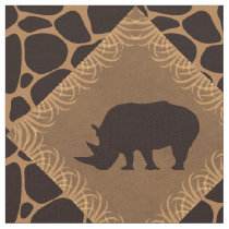 Rhino and Animal Print Diamond Pattern. Fabric