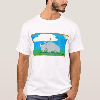 Rhino and Bird T-Shirt