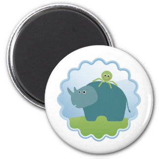 Rhino and Octopus! Magnet