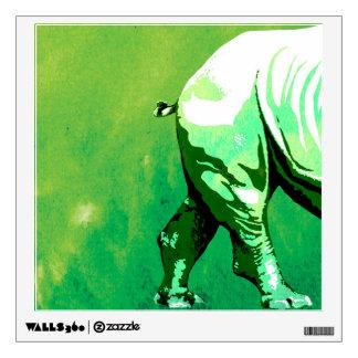 Rhino animal green decorative wall art wall sticker