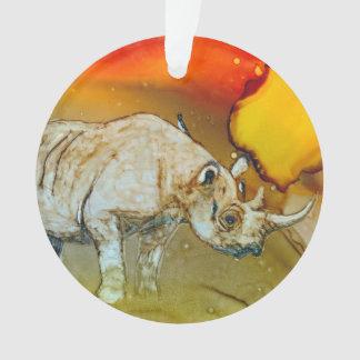 Rhino at Sunset Ornament