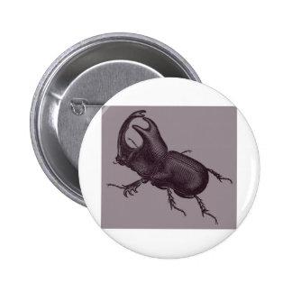 Rhino Beetle, Scarabeus Chorinaeus 2 Inch Round Button