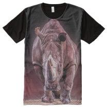 rhino big and powerful all over print tshirt