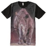 rhino big and powerful all over print tshirt All-Over print t-shirt