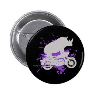 Rhino Biker 2 Inch Round Button