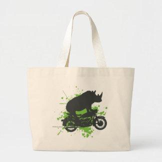 Rhino Biker Jumbo Tote Bag