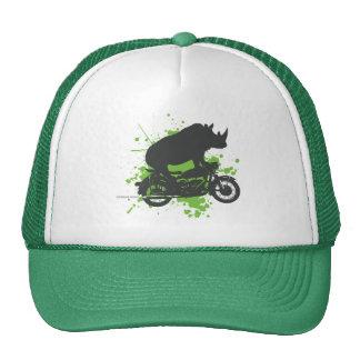 Rhino Biker Trucker Hat