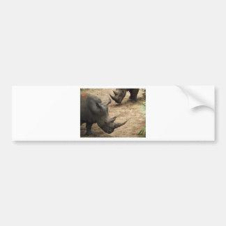 Rhino Bumper Sticker