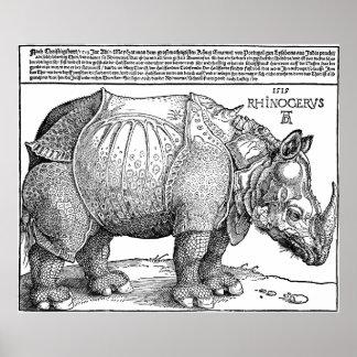 Rhino by Albrecht Durer Poster